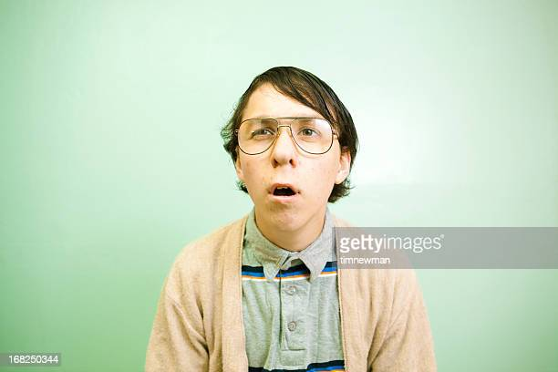 confused nerd guy - nerd stock pictures, royalty-free photos & images