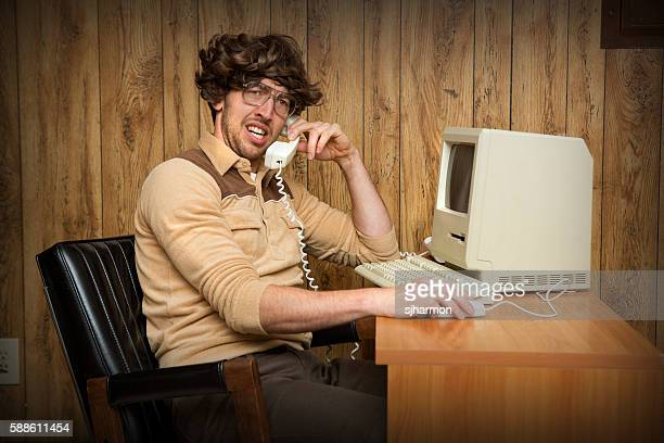 Confused Nerdy Computer Man