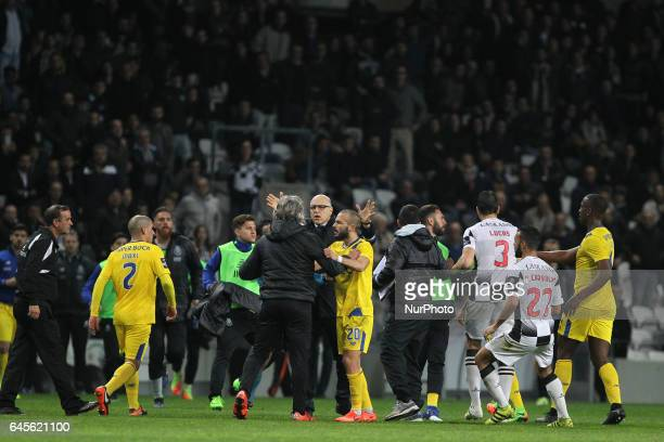 Confusion during the Premier League 2016/17 match between Boavista FC and FC Porto at Bessa XXI Stadium in Porto on February 26 2017