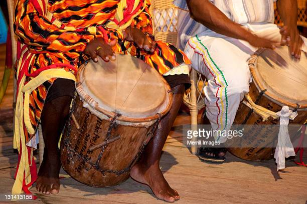 conga drummers in honduras - honduras stock pictures, royalty-free photos & images