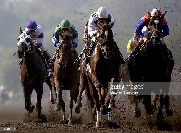 Congaree and Medaglia d'Oro compete in the Classic in the $4 Million Breeders' Cup Classic Powered by Dodge part of the 2003 Breeders' Cup World...