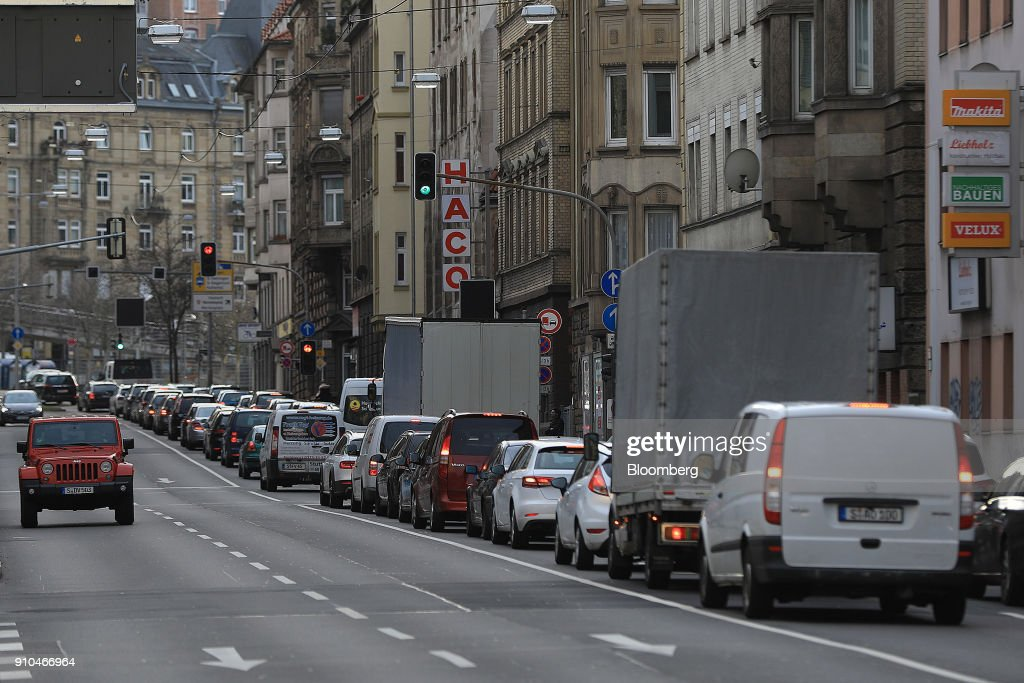 Stuttgart Traffic And City Views Ahead Of Federal Administrative CourtDiesel Ban Ruling : News Photo