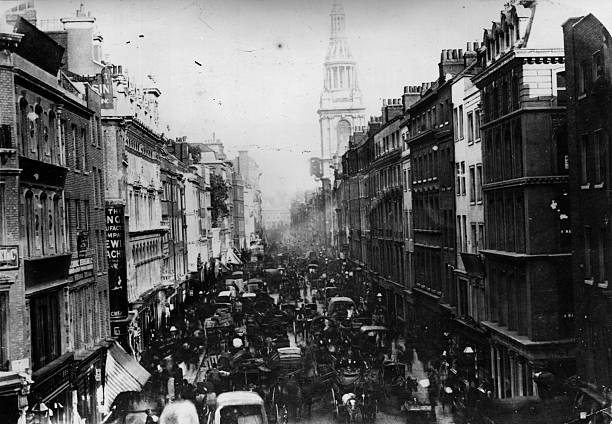 Congested streets in Cheapside, London.