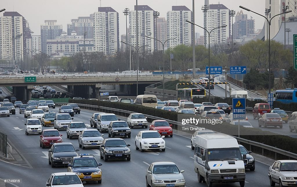 Traffic On Beijing Motorway, China : News Photo