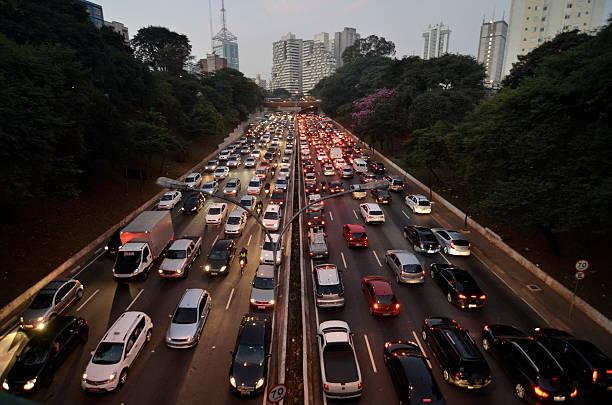 Congestionamento Em São Paulo Wall Art