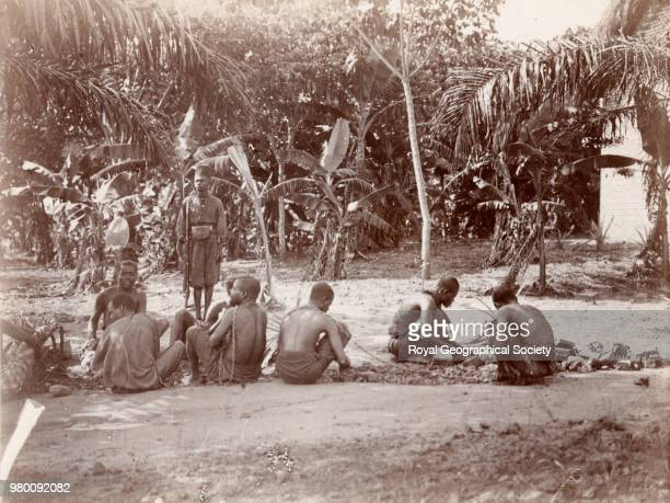 Congo chain gang Alexander Wollaston was appointed as doctor on the British Museum Ruwenzori Expedition in 1905 returning through the Congo in 1906...