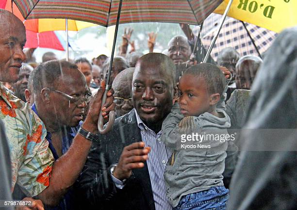 KINSHASA Congo Democratic Republic of Congo President Joseph Kabila arrives at a polling station in Kinshasa during the country's presidential and...