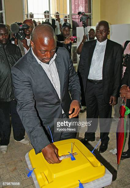KINSHASA Congo Democratic Republic of Congo President Joseph Kabila votes in the country's presidential and parliamentary elections in Kinshasa on...
