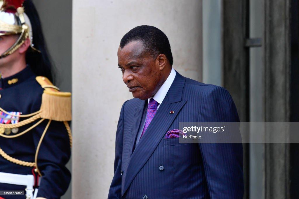 French President Emmanuel Macron Hosts A Meeting On Libya AT Elysee Palace