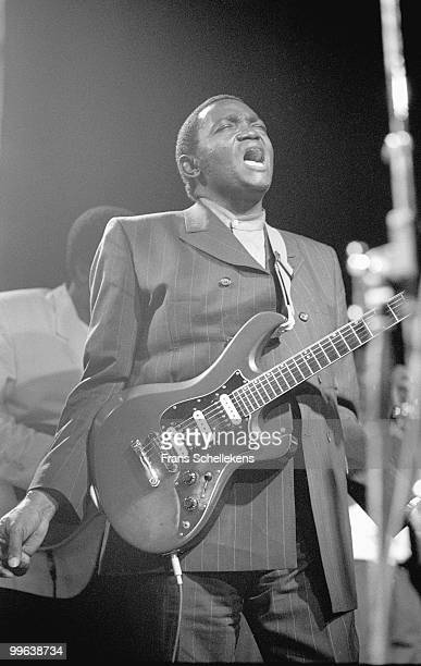 Congolese artist Franco performs live on stage at Melkweg in Amsterdam, Netherlands on January 18 1989