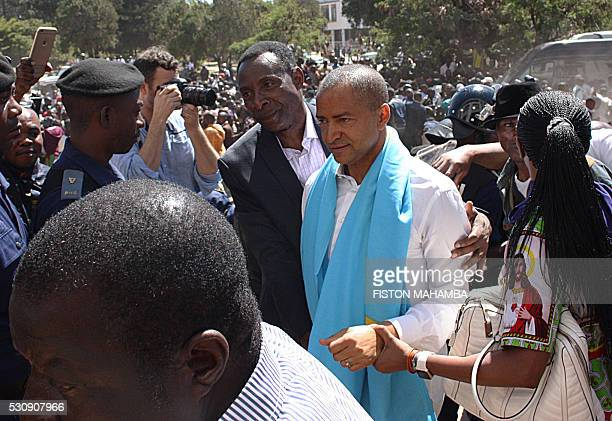 Congolese former governor of mineralrich Katanga province and presidential candidate Moise Katumbi arrives at the court in Lumbubashi on May 11 2016...
