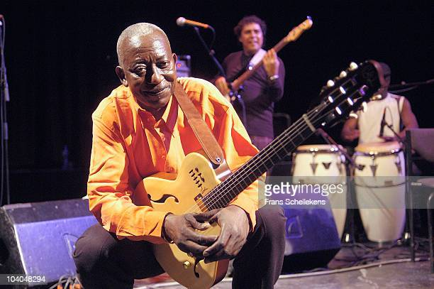 Congolese guitarist Papa Noel performs on stage at Paradiso on July 2 2004 in Amsterdam, Netherlands.