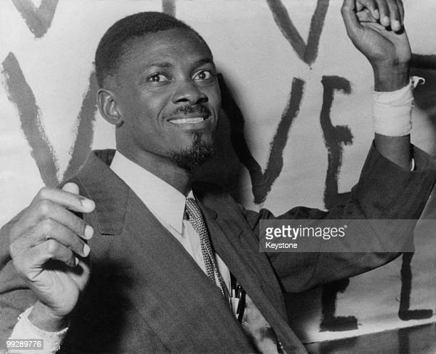 Congolese independence leader Patrice Lumumba at his hotel in Brussels Belgium where he is to attend a roundtable conference on the future of the...