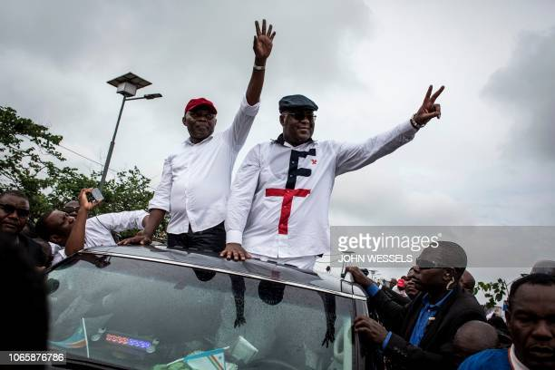 Congolese main opposition figures, leader of the Union for Democracy and Social Progress , Felix Tshisekedi and his running mate leader of the Union...