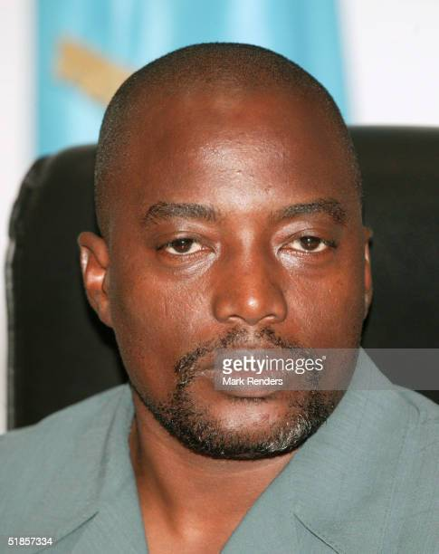 DECEMBER 13 Congolese President Joseph Kabila sits in his office on December 13 2004 in Kinshasa Democratic Republic of Congo United Nations...