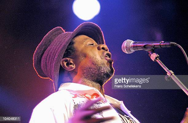 Congolese singer Papa Wemba performs on stage at Melkweg on September 26 2004 in Amsterdam Netherlands