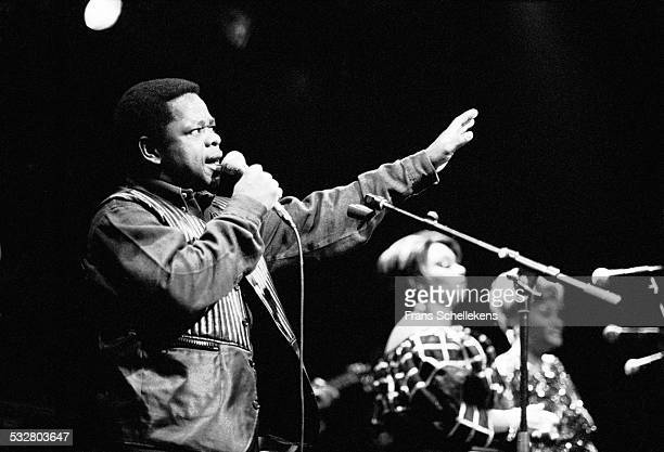 Congolese singer Sam Mangwana performs on March 30th 1997 at the Melkweg in Amsterdam, Netherlands.