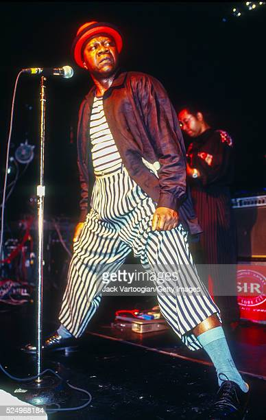 Congolese Soukous musician Papa Wemba performs onstage at Irving Plaza New York New York June 16 1995