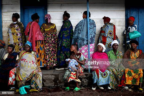 Congolese women gather at the Kibati displaced camp November 13 2008 in the outskirts of the town of Goma Congo The head of UN peacekeeping has asked...