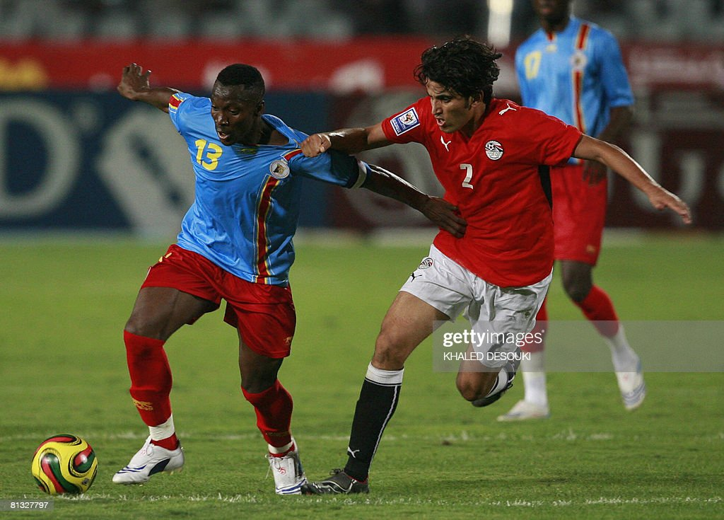 Congo's Shabani Nonda Fights For The Ball With His