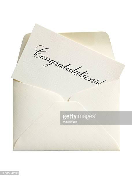 Glückwunsch Karte & Umschlag mit Clipping Path