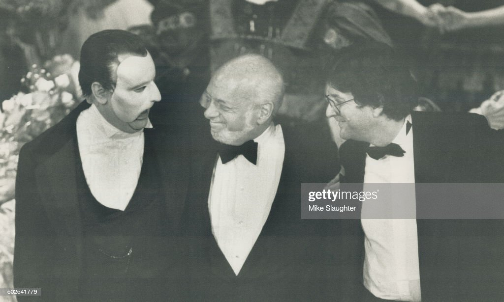 Congratulations: Colm Wilkinson; the star of The Phantom Of The Opera; is congratulated by New York  : News Photo