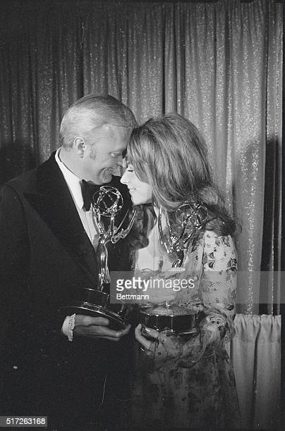 Congratulations Hollywood Calif Lee Grant who won an Emmy for Best Actress in a Single Performance in The Neon Ceiling is congratulated May 9 by Jack...