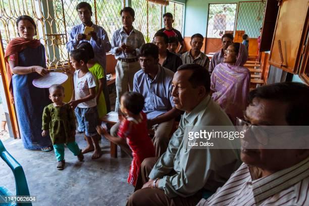 Congregation at a Catholic church in Bangladesh