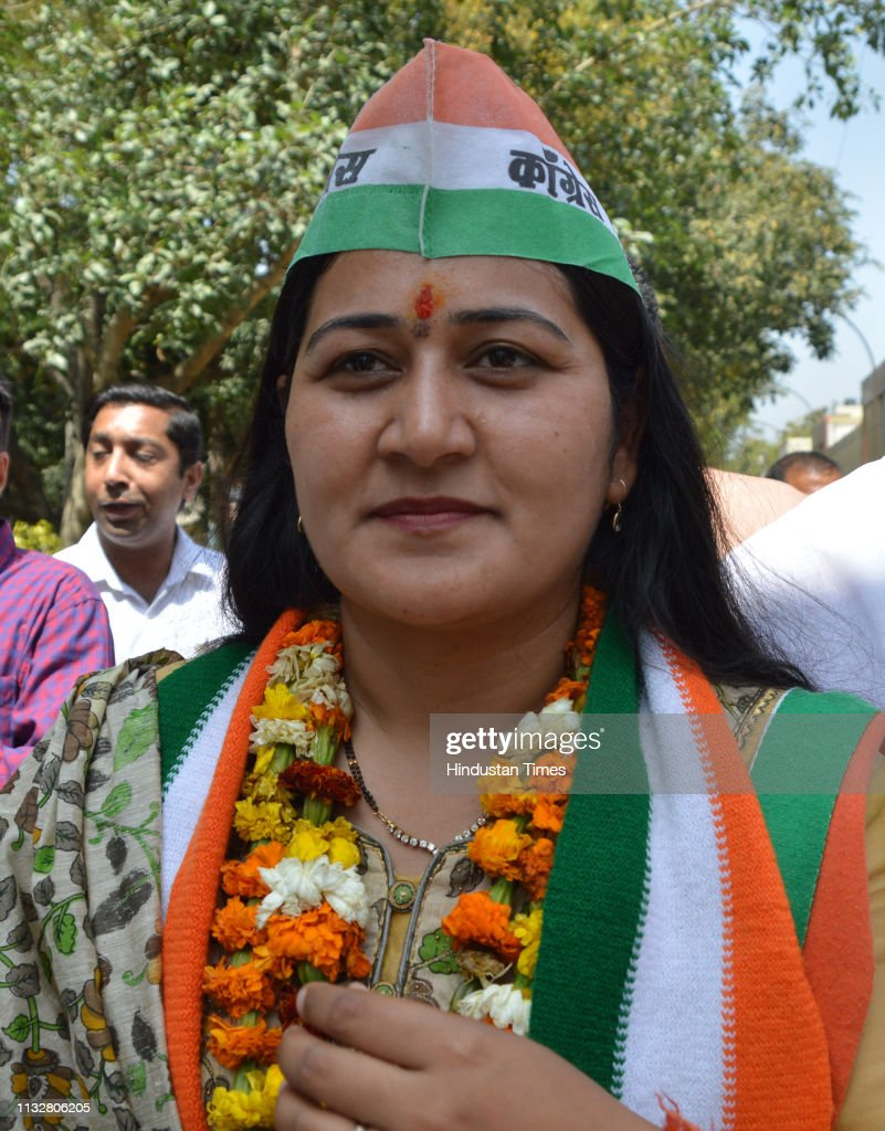 IND: Congress Candidate From Ghaziabad Lok Sabha Seat Dolly Sharma File Nomination Papers