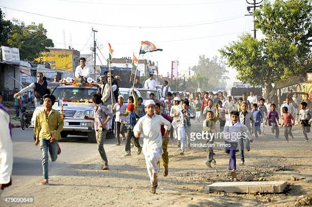 Congress candidate Raj Babbar took out a massive roadshow on March 15 2014 in Ghaziabad India Babbar said he was the one who supported Ghaziabad...