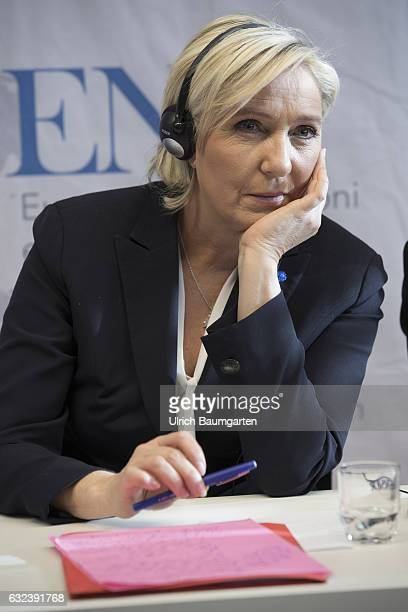 Congress Europe of Nations and Freedom of the ENF group in the European Parliament in Koblenz Marine Le Pen chairwoman of the Front National in...