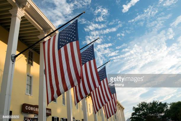 congress hall at sunset - cape may stock pictures, royalty-free photos & images