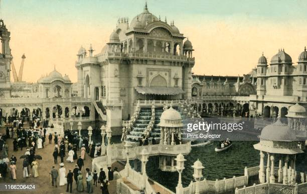 Congress Hall, Coronation Exhibition, London, 1911. Mughal style buildings. The Coronation Exhibition, at White City in west London, was held to...