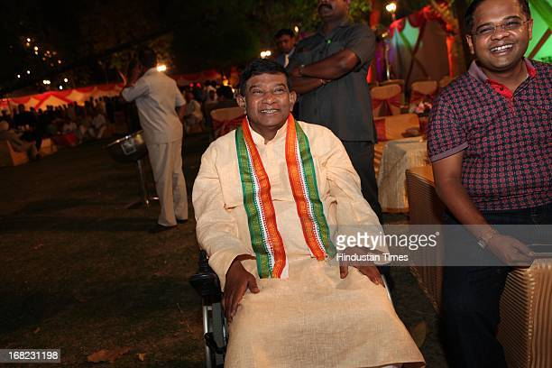 Congress leader Ajit Jogi at the Wedding ceremony of Lawyer Ashok Basoya and ex Delhi University Student Union president Ragini Nayak on May 5 2013...