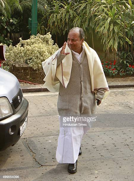 Congress leader AK Antony at a Parliament House during the winter session on December 1 2015 in New Delhi India Today's Parliament adjourned over the...