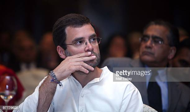 Congress leader Rahul Gandhi at the second day of the India Today Conclave in New Delhi on March 13 2010
