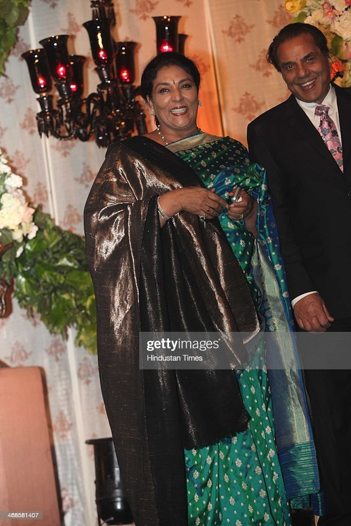 Congress leader Renuka Chaudhary during the wedding reception of Ahana Deol and Vaibhav Vohra on February 5, 2014 in New Delhi, India. Ahana, a budding Odissi dancer, is the daughter of Bollywood stars Dharmendra and Hema Malini while Vaibhav in an Indian businessman. They married on February 2, 2014 in Mumbai.