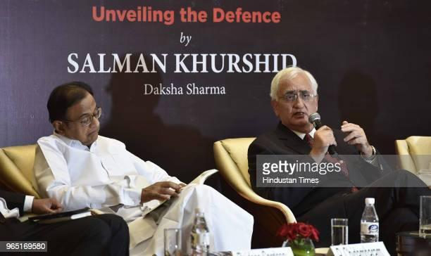 Congress leaders P  Chidambaram, and Salman Khurshid during the