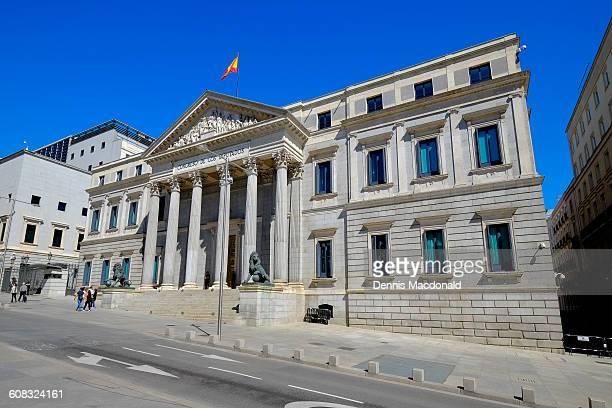 congress of deputies madrid spain - congress of deputies stock pictures, royalty-free photos & images