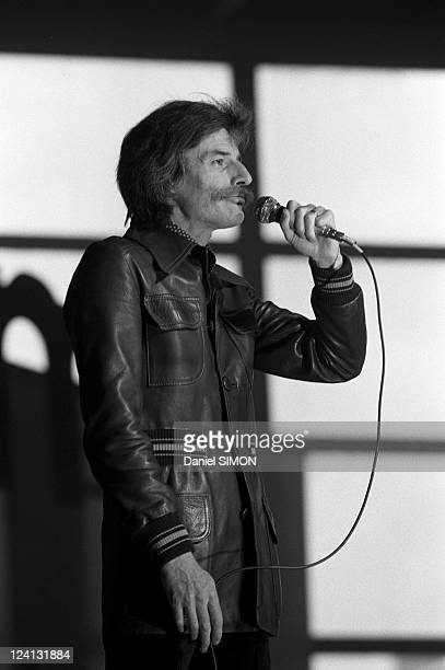 Congress of French Communist Party In Paris France On February 08 1976 Jean Ferrat