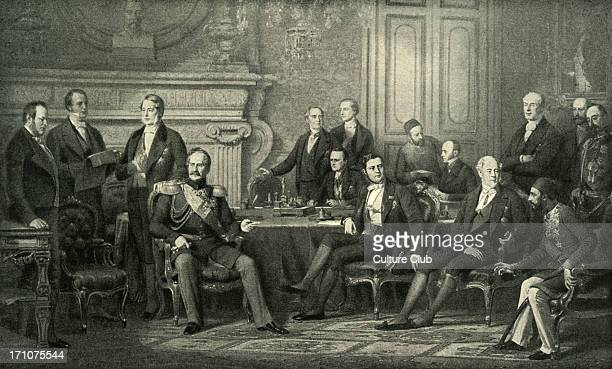 Congress of Paris 1856 painting by Edouard Louis Dubufe Congress of Paris was a peace conference held in Paris between representatives of the great...