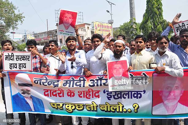 A congress of party workers protesting against Prime Minister Narendra Modi Amid rising communal tension in Dadri days after the public lynching of...