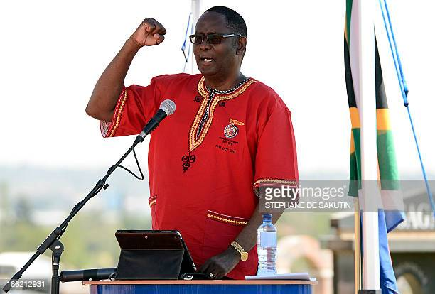 Congress of South African Trade Unions general secretary Zwelinzima Vavi delivers a speech during the 20th anniversary of the assassination of the...
