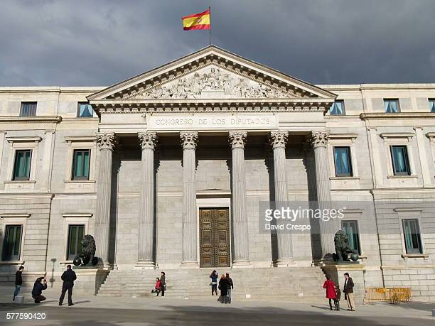 congress of spain - congress of deputies stock pictures, royalty-free photos & images