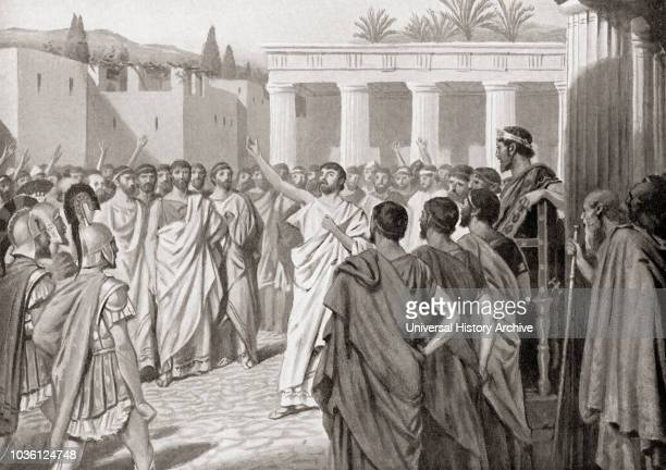 Congress of the Peloponnesian states at Sparta in 432 BC From Hutchinson's History of the Nations published 1915