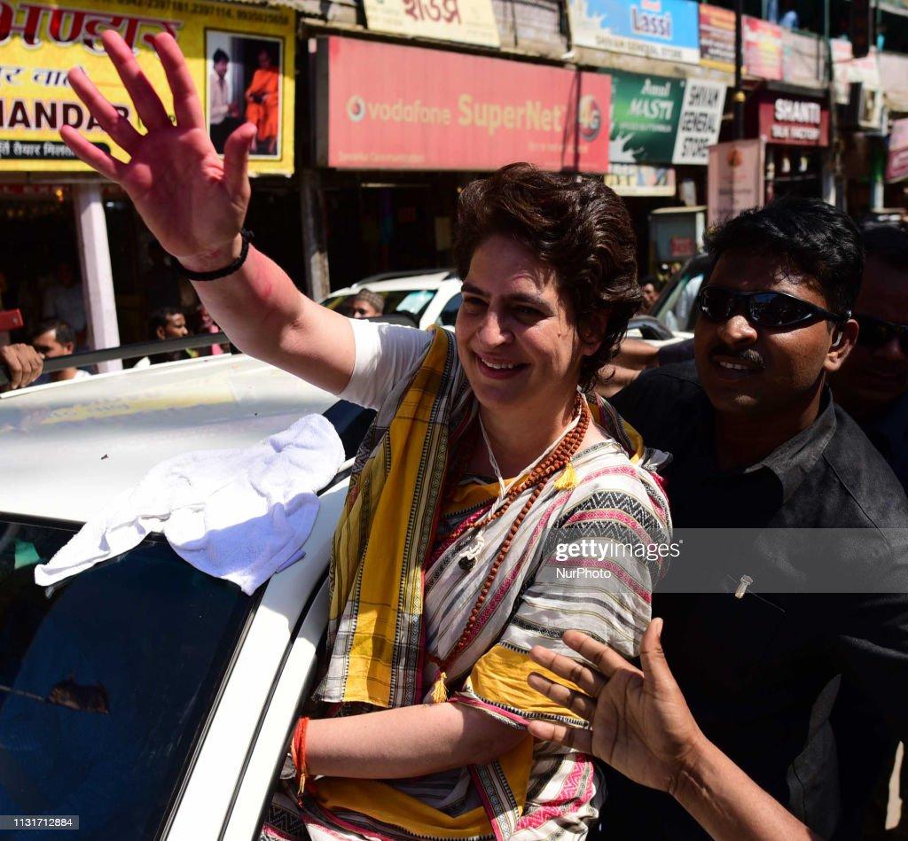 Priyanka Gandhi In Varanasi : News Photo