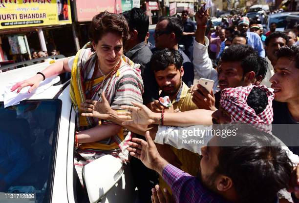 Congress party General Secretary and eastern Uttar Pradesh state in-charge Priyanka Gandhi Vadra meets with local supporters and people of varanasi...