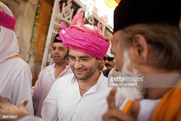 Congress Party General Secretary Rahul Gandhi visits Darga Sharif in Ajmer on May 4 during campaigning ahead of the fourth of five phases in the...