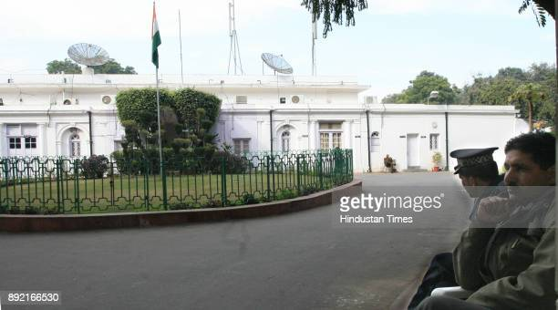 Congress Party office in Delhi looks deserted on Sunday as the party suffered a loss during Gujarat assembly election