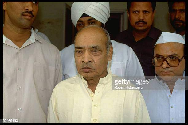 Congress party Pres PV Narasimha Rao elected in wake of Rajiv Gandhi assassina tion during parliamentary election campaign